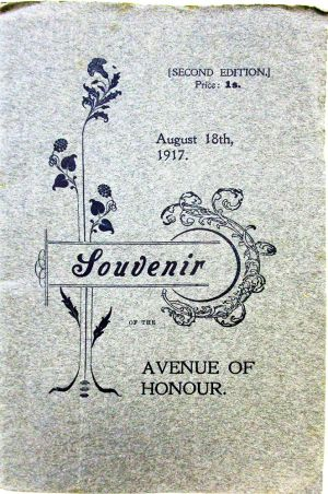 Avenue of Honour Souvenir 18 Aug 1917