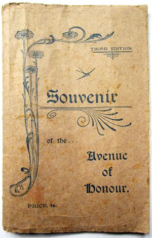 Avenue of Honour Souvenir 1937 (brown cover)