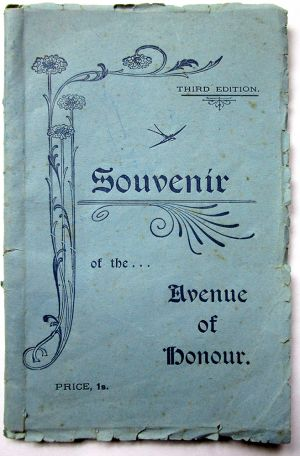 Avenue of Honour Souvenir Booklet 1937 (blue cover)