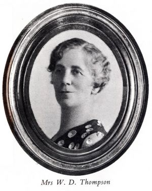 Mrs W D THOMPSON portrait